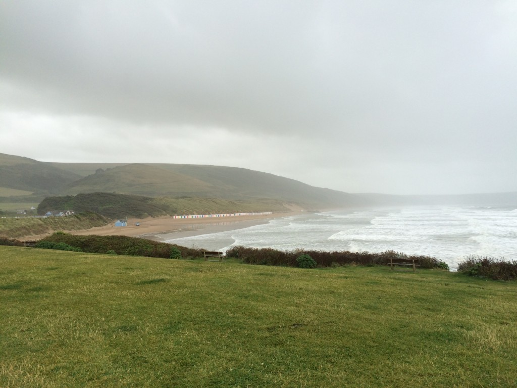 bad weather at Woolacombe